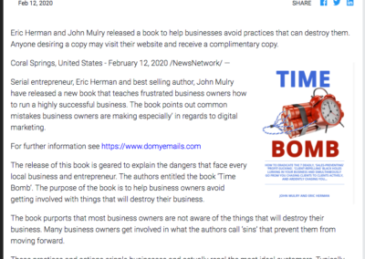 Time Bomb Press Release